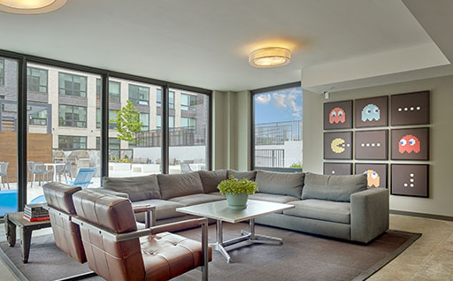apartment lounge - ParkandGarden hoboken nj